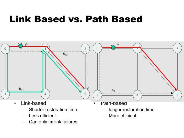 Link Based vs. Path Based