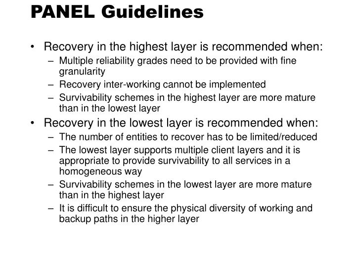 PANEL Guidelines