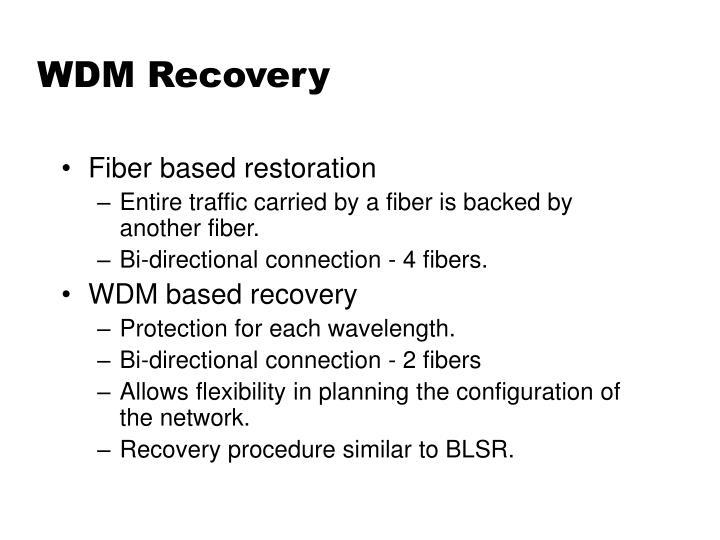 WDM Recovery