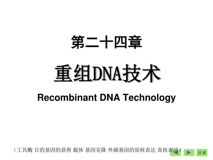 dna recombinant dna technology n.