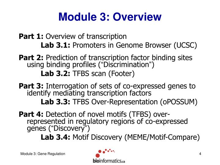 Module 3: Overview
