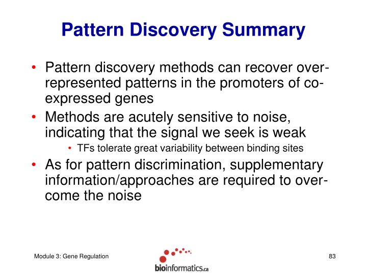Pattern Discovery Summary