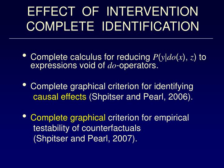EFFECT  OF  INTERVENTION