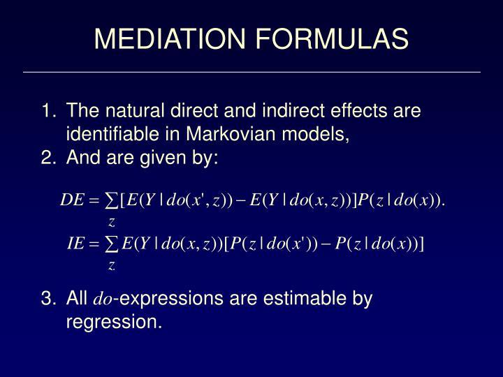 MEDIATION FORMULAS