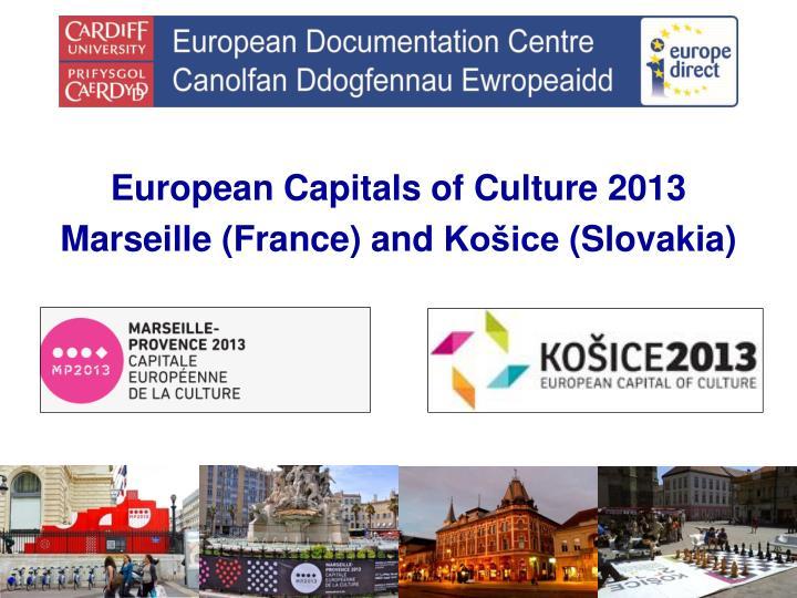 European Capitals of Culture 2013