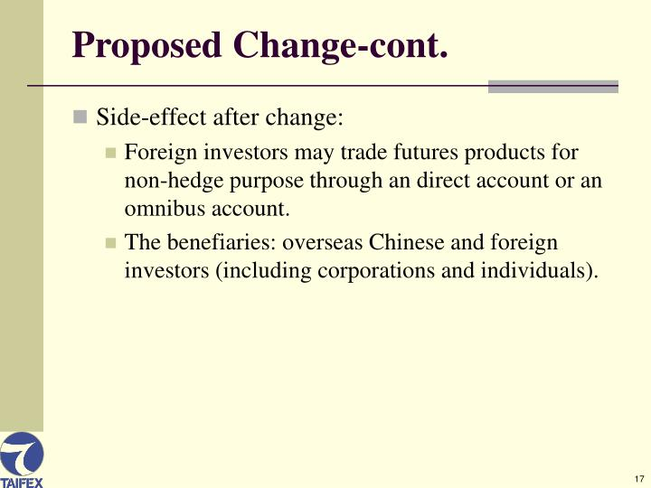 Proposed Change-cont.