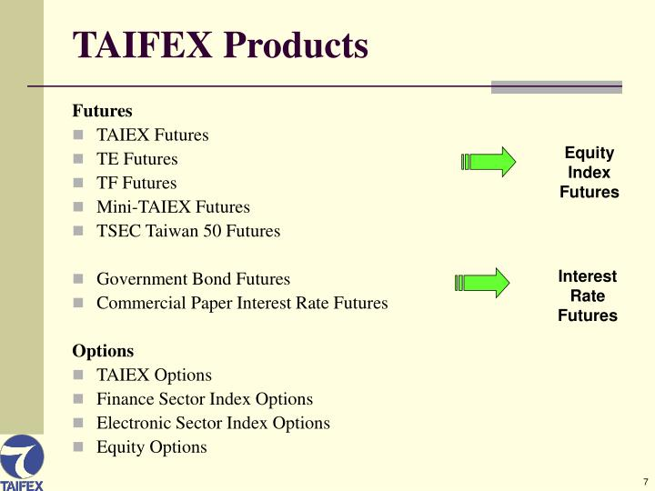 TAIFEX Products