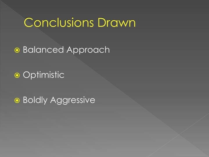 Conclusions Drawn