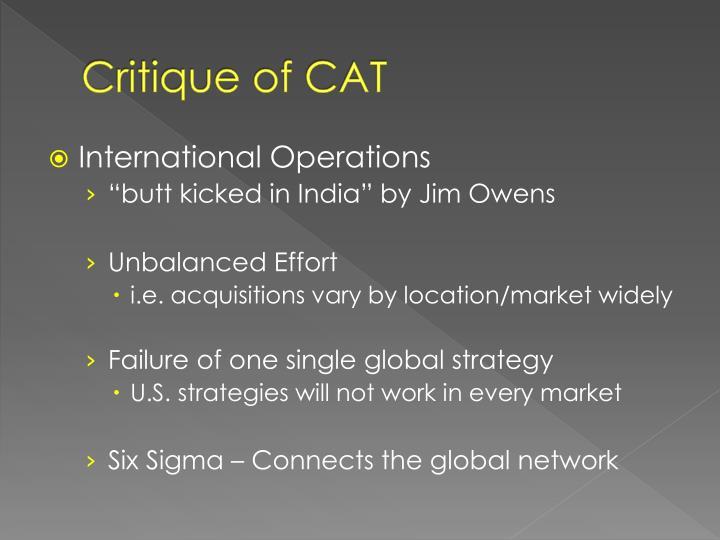 Critique of CAT