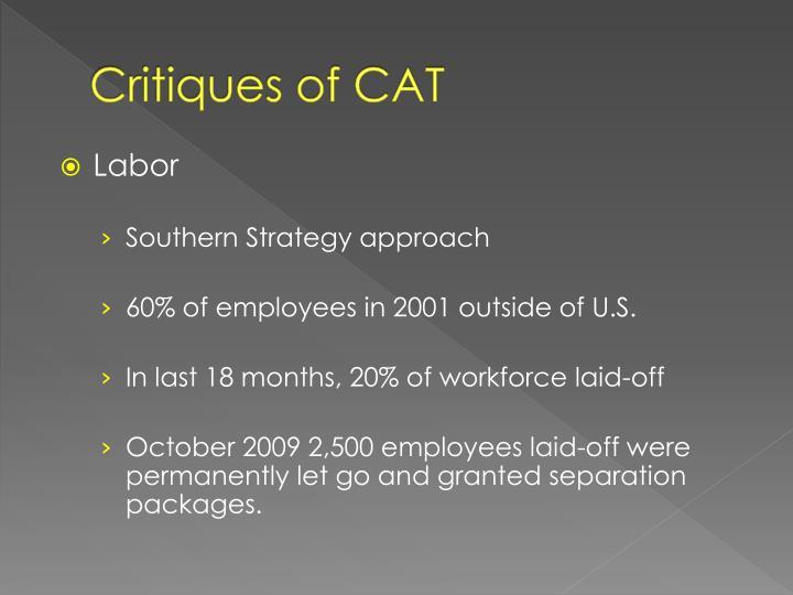 Critiques of CAT