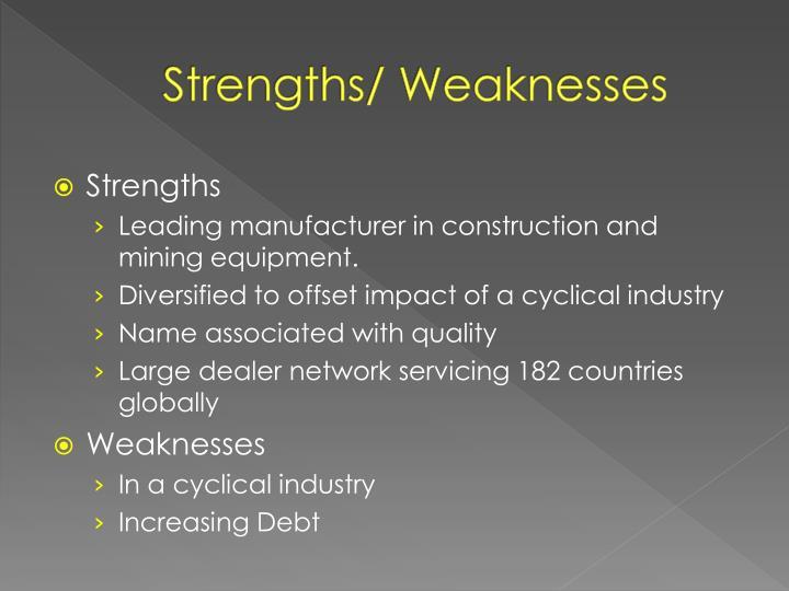 Strengths/ Weaknesses