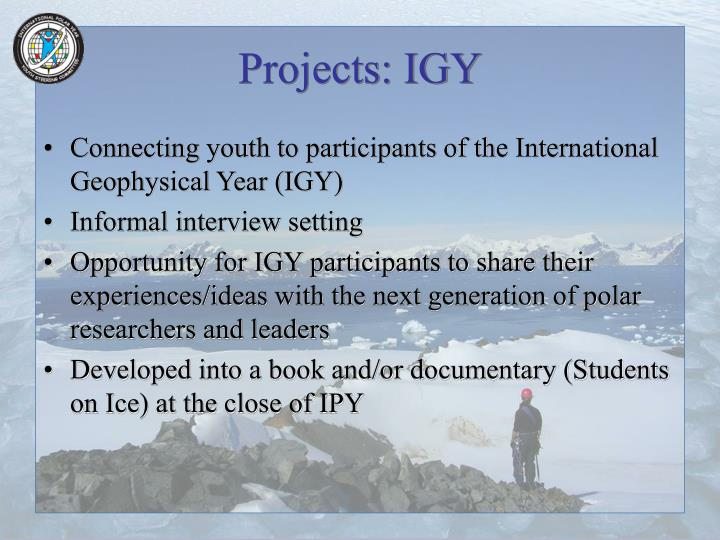 Projects: IGY