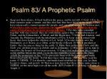 psalm 83 a prophetic psalm