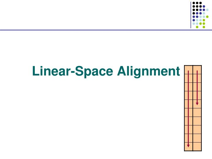 linear space alignment
