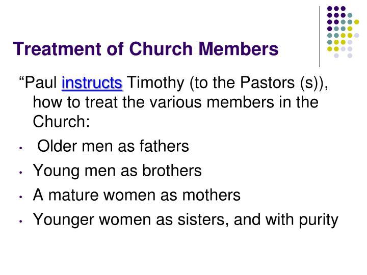 Treatment of church members1