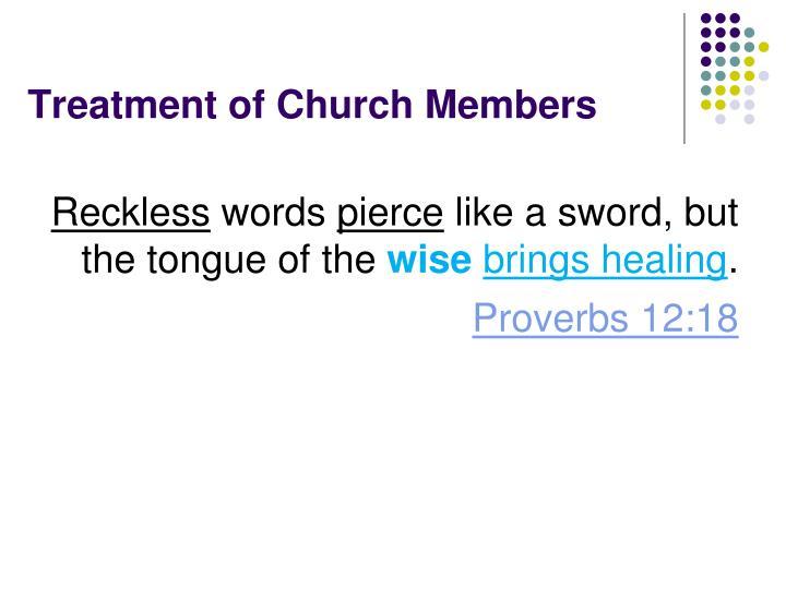 Treatment of Church Members