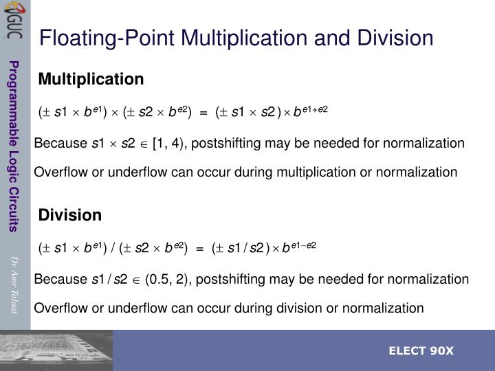 Floating-Point Multiplication and Division