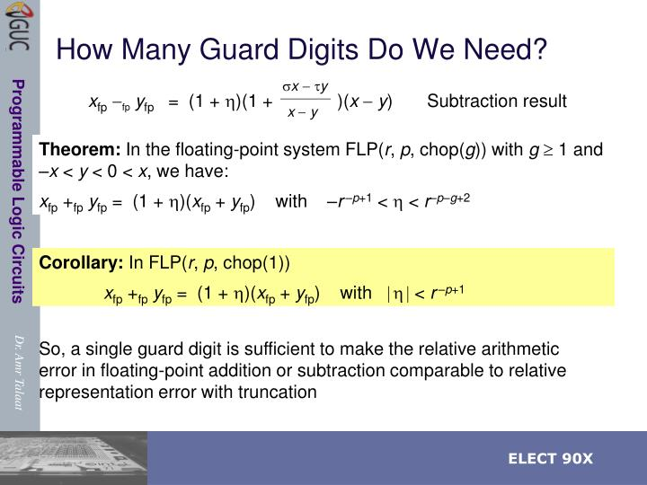 How Many Guard Digits Do We Need?