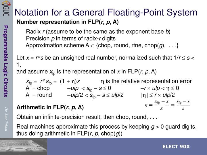 Notation for a General Floating-Point System