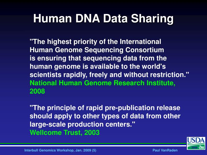 Human DNA Data Sharing