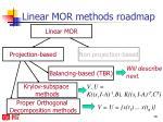 linear mor methods roadmap2