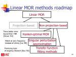 linear mor methods roadmap3