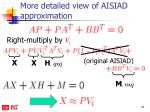more detailed view of aisiad approximation