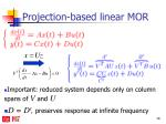 projection based linear mor1