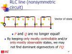 rlc line nonsymmetric circuit