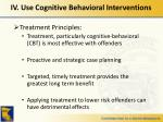 iv use cognitive behavioral interventions1