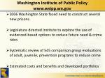 washington institute of public policy www wsipp wa gov
