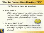 what are evidenced based practices ebp