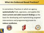 what are evidenced based practices