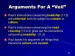 arguments for a veil