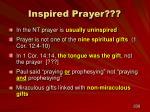inspired prayer