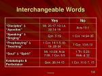 interchangeable words