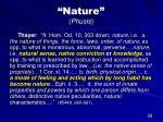 nature phusis