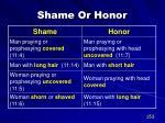 shame or honor