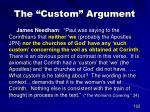 the custom argument2