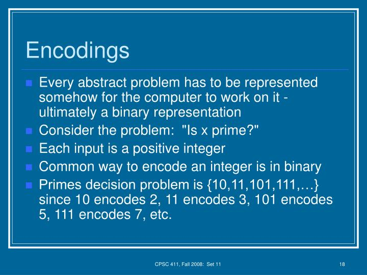 Encodings