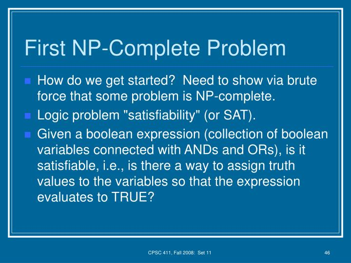 First NP-Complete Problem
