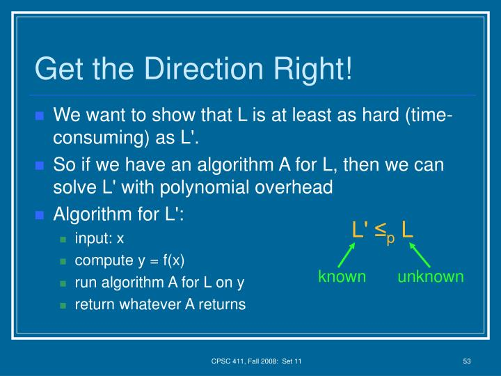 Get the Direction Right!