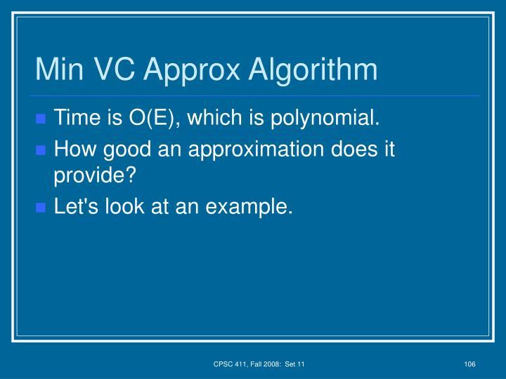 Min VC Approx Algorithm