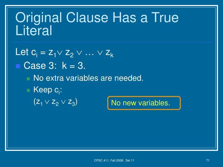 No new variables.