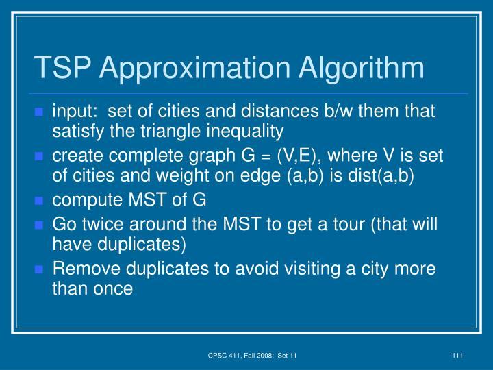 TSP Approximation Algorithm