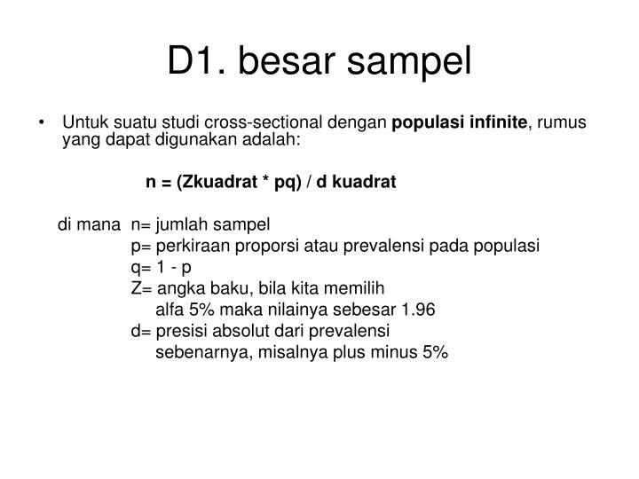 D1. besar sampel