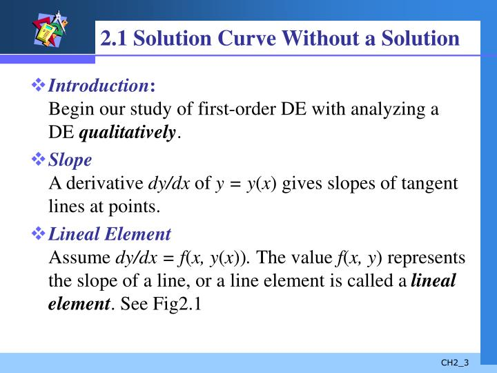 2 1 solution curve without a solution