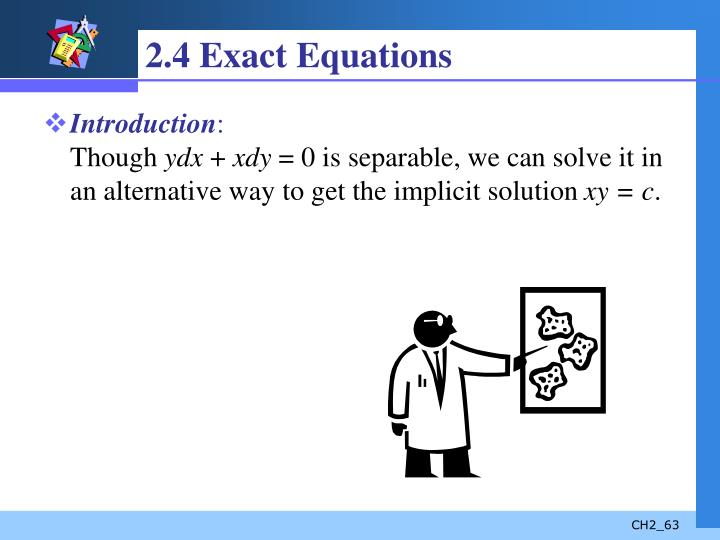 2.4 Exact Equations