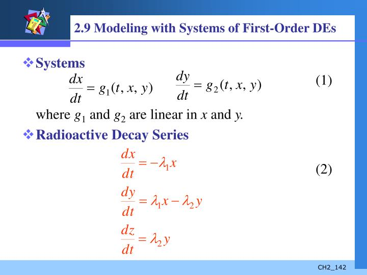 2.9 Modeling with Systems of First-Order DEs
