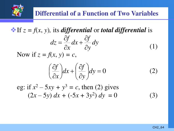 Differential of a Function of Two Variables